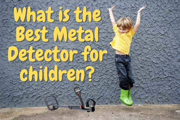 happy kid jumping Metal Detector for children